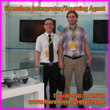 Shenzhen Interpreter Jason With Russian Fair Booth Designer Vitaly in Shenzhen China