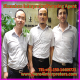 Shenzhen Interpreter Jason with South African Client Leonard