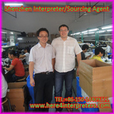shenzhen interpreter Jason with Russian Client Maxim  in Security Camera workshop